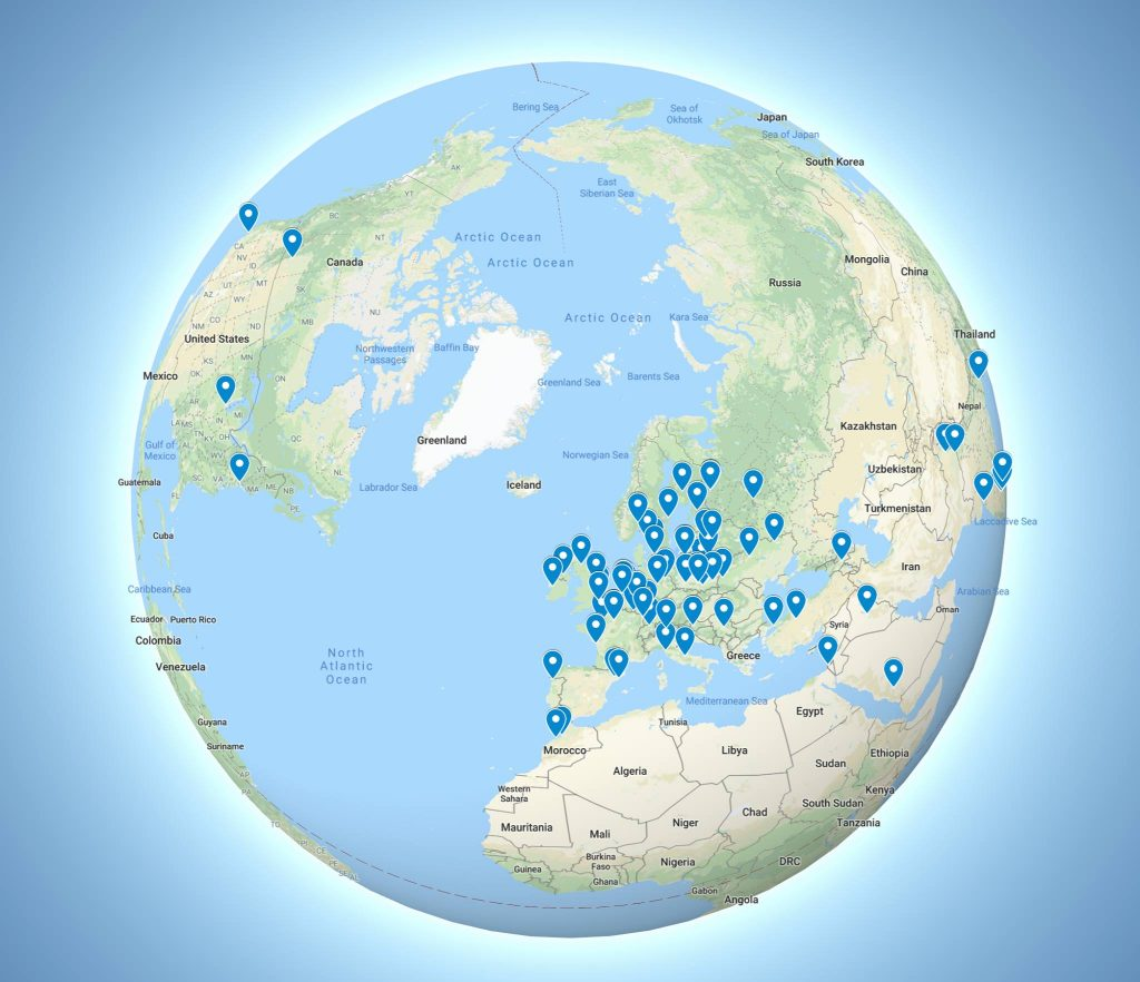 ISSDL 2019 Participants map